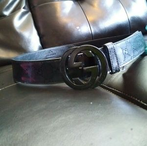Leather Black Gucci Belt